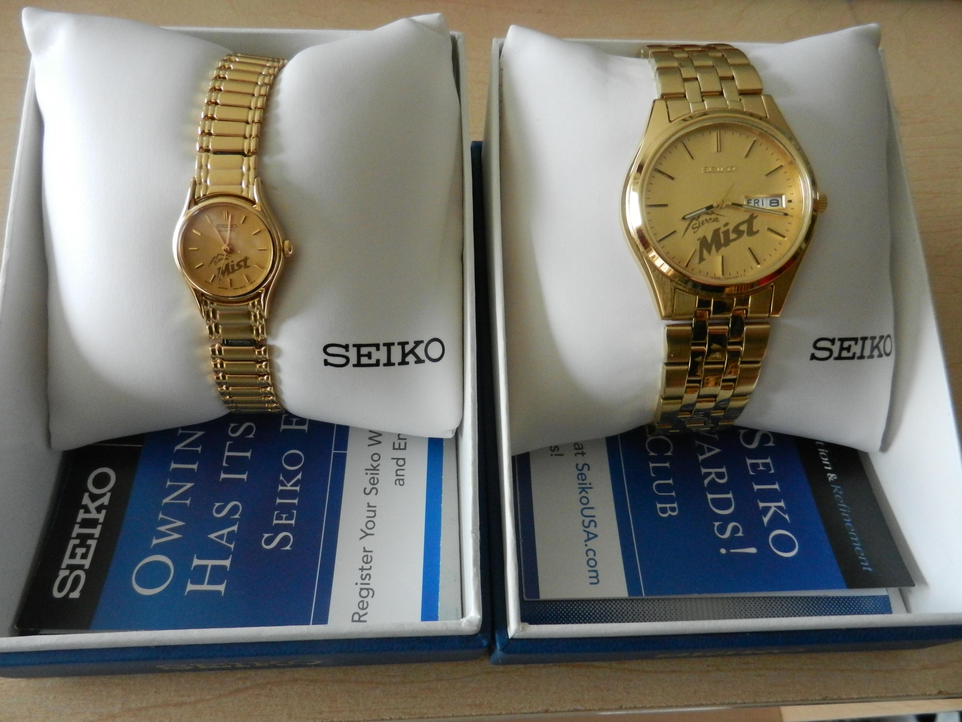 Seiko Sierra Mist Mens and Ladies watches